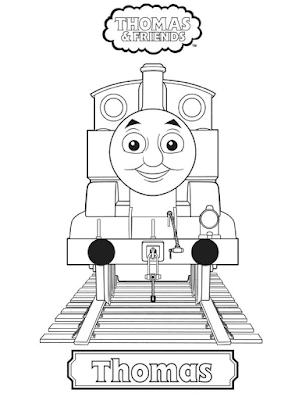 Gambar Mewarnai Thomas and Friends - 9