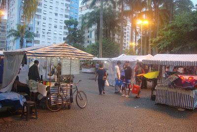 Feirinha de artesanato em Santos - SP
