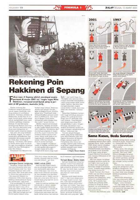 REKENING POIN HAKKINEN DI SEPANG