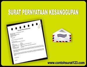 Contoh Surat Pernyataan Kesanggupan Contoh Surat