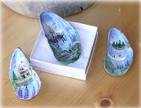 Manualidades : conchas pintadas a mano SOUVENIR