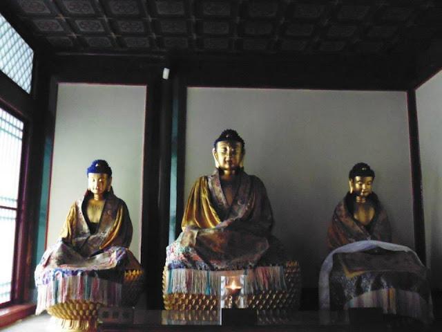 Figuras budistas en el Templo de Yonghe (Beijing)