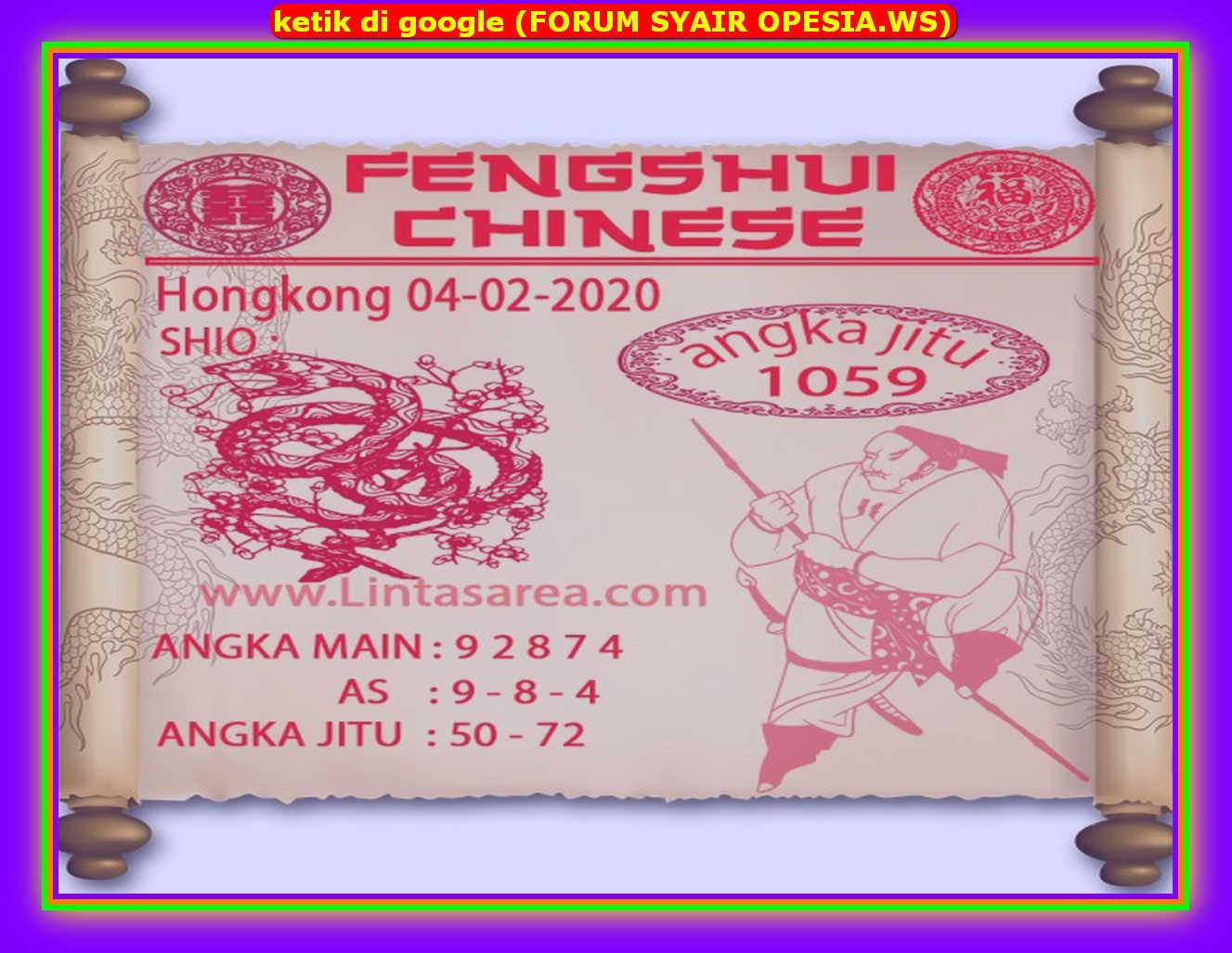 Kode syair Hongkong Selasa 4 Februari 2020 160