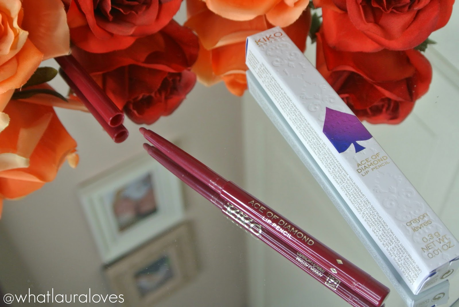 Kiko Ace of Diamond Lip Pencil in 27 Refined Burgundy