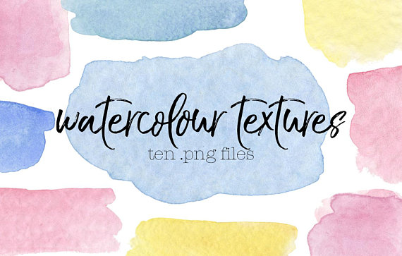 watercolour swatches in pastel blues, yellows, and pinks