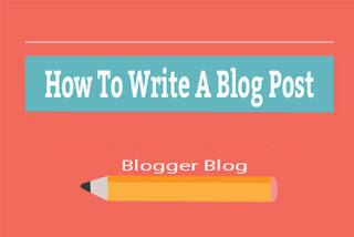 Write A Blog Post