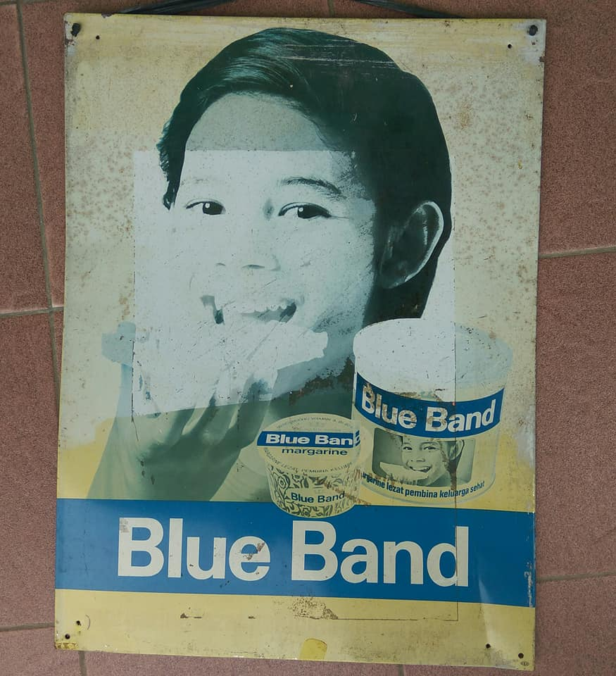 All About Old Advertising Blue Band Tin Sign Sold Blueband Dus