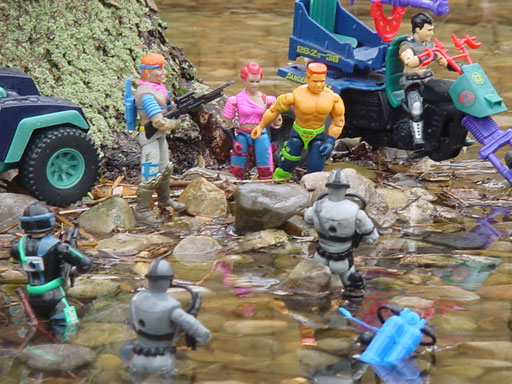 1991 Super Sonic Fighters Road Pig, 1986 Zandar, Zarana, Dreadnoks, SEARS exclusive Dreadnok Stinger, Dreadnok Cycle, 1994 Shipwreck, 1998 Wet Suit, Shipwreck