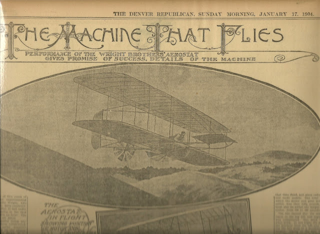 Wright Brothers newspaper story of first flight
