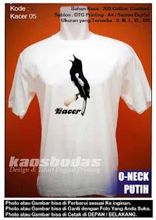 Kaos Kacer 05 Putih