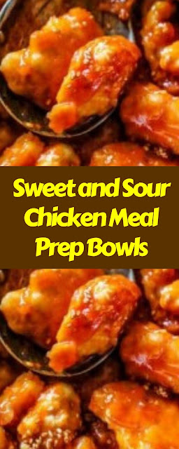 Sweet and Sour Chicken Meal Prep Bowls