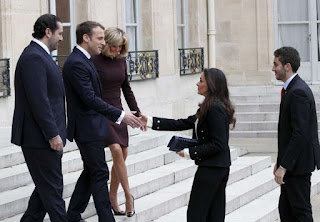 Saad Hariri received by Emanuelle Macron with state honors