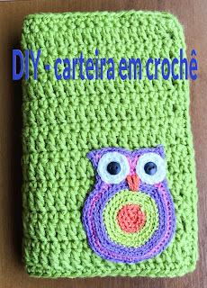 Atelie Debora Alves Faça uma linda carteira de crochê para levar para suas férias!