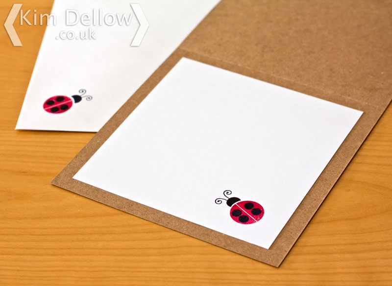 Matching stamping inside a card and on the envelop