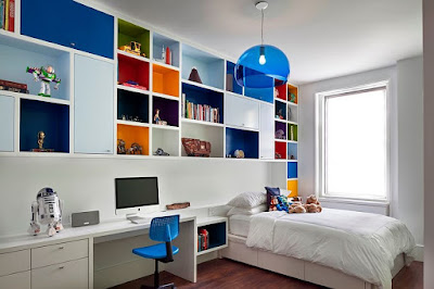 Multiple coloured bedroom for teenager Boys and girl
