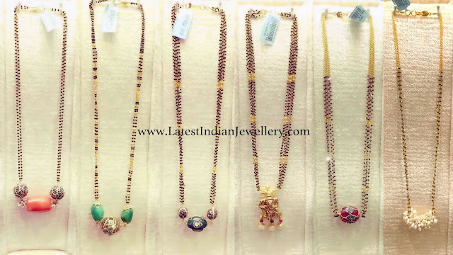 Trendy Black Bead Chains