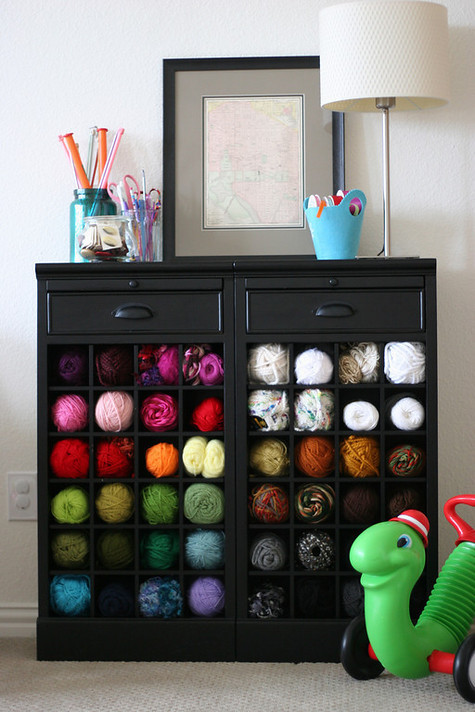 Best ideals for yarn and knitting supply storage oh you for Cheap wine storage ideas