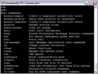 "Obtaining help for commands ""Cisco"""