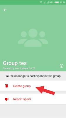 1 Menit Menghapus Grup WA/Whatsapp Secara Permanen (Aman Tanpa Muncul Lagi)