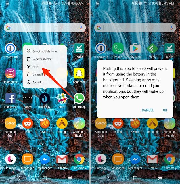 Cara Menghemat/Meningkatkan Daya Tahan Baterai Samsung Galaxy S8