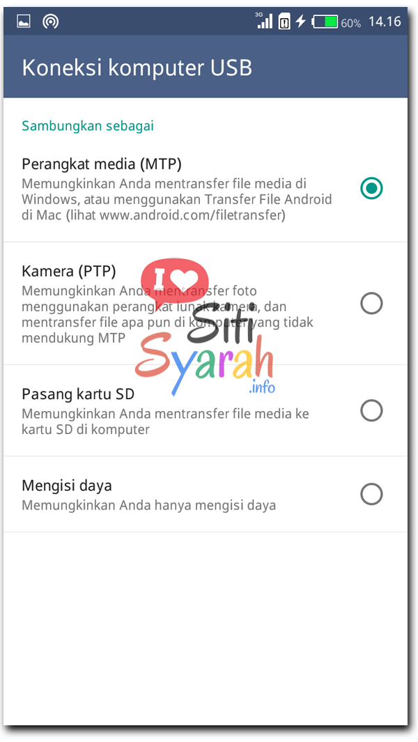 fungsi mode mtp di android