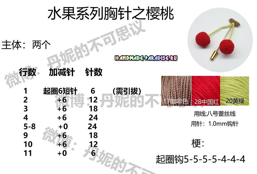 Схемы вязания фруктов (6)