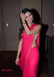 Meenakshi Dixit Pictures in Pink Saree at Well Care Health Card Launch ~ Celebs Next