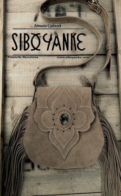 Leather Boho Bag Bohemian with LABRADORITE, Boho Bag by Sibo Yanke. HANDMADE, Bohostyle, beauty, fashion, Bohochic