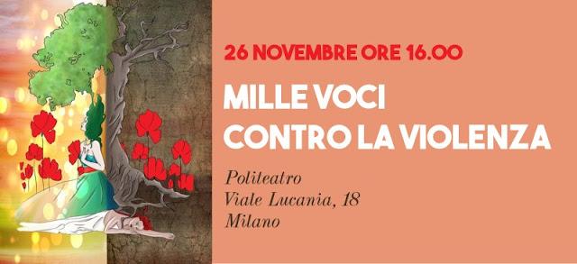 «Mille voci contro la violenza» - Locandina evento
