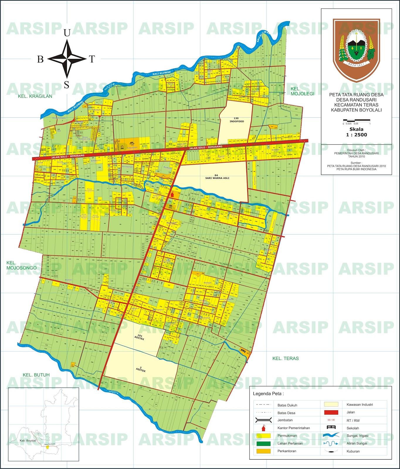 Peta Randusari ~ Pemerintah Desa Randusari Teras Boyolali