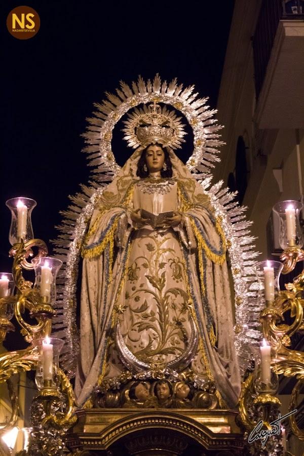 Horario e Itinerario Procesión Virgen de la Encarnación. Sevilla 14/10/2018