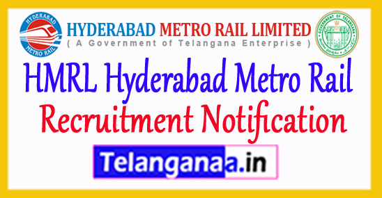HMRL Hyderabad Metro Rail Recruitment 2017 Apply Online