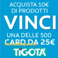 Logo Con Colgate vinci subito 500 Card Tigotà da 25 euro