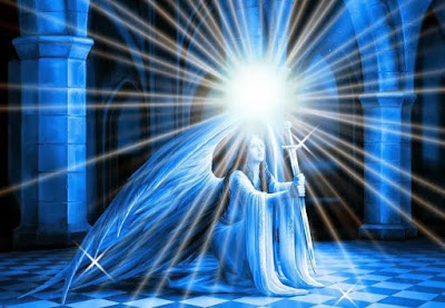 Resultado de imagem para espada azul del arcangel miguel