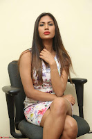Nishi Ganda stunning cute in Flower Print short dress at Tick Tack Movie Press Meet March 2017 141.JPG