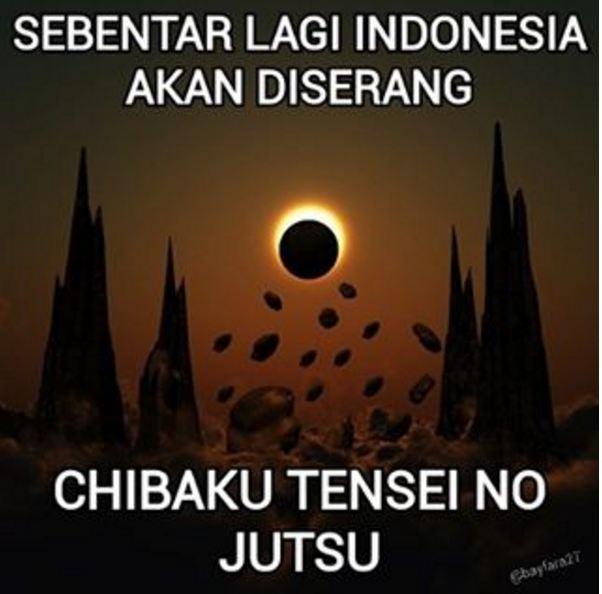 Meme Gerhana Matahari Total