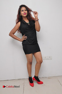 Model Sonia Pictures in Black Dress at Yes Mart Event  0034