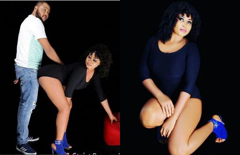 Nollywood actress causes uproar over racy pose with boyfriend