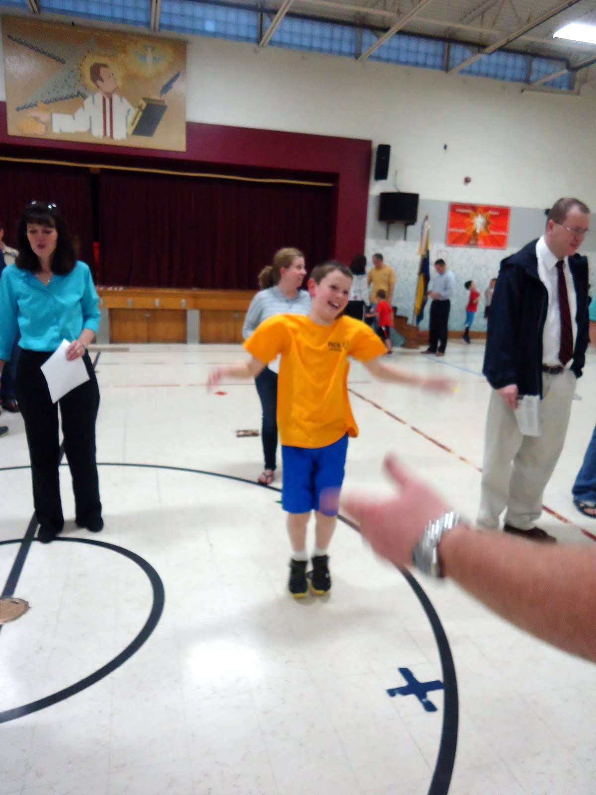 Being Mirrors Cub Scout Physical Fitness Day