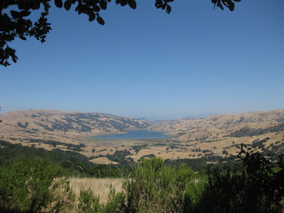 View of Calaveras Reservoir from Felter Road, San Jose, California