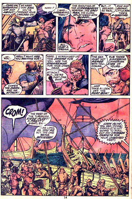 Conan the Barbarian v1 #17 marvel comic book page art by Barry Windsor Smith