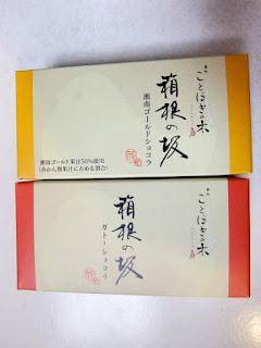 箱根の菓子「箱根の坂」ガトーショコラの写真です。