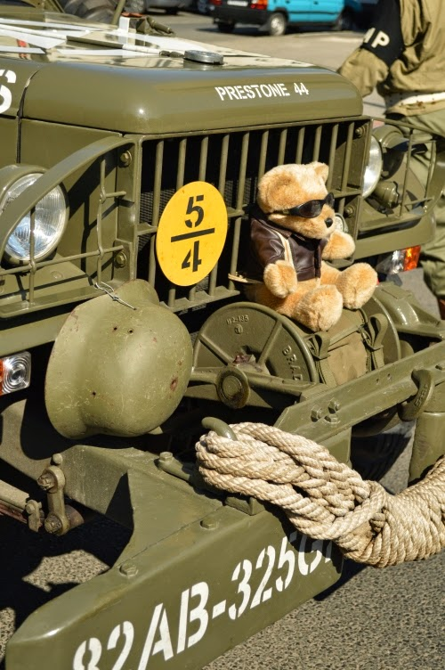 Convoy of Liberty 2014, Pilsen, ww2, teddy bear