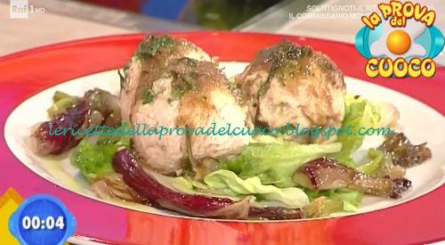 Praline di tacchino con cipollotti in agrodolce ricetta Zoppolatti da Prova del Cuoco