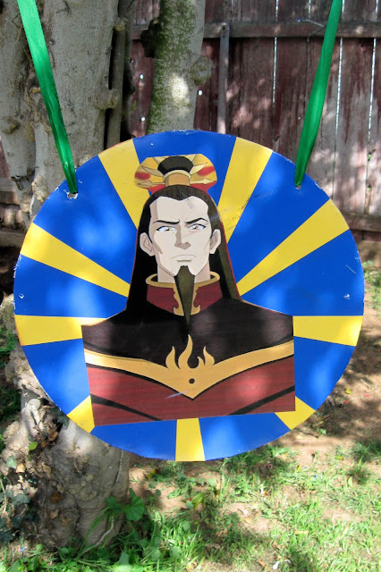 This is a target for water balloons I made for my son's Avatar: The Last Airbender themed party.
