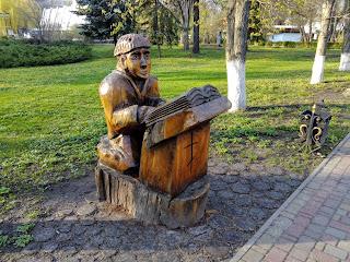 Миргород. Парк. Дерев'яні скульптури
