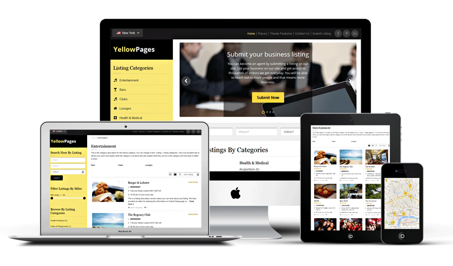 Download Free Yellow Pages Wordpress Theme | Java Codes