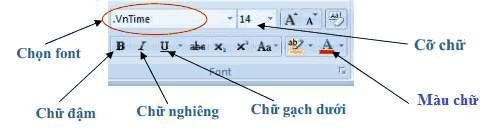 tinhoccoban.net - Hộp hội thoại định dạng văn bản trên Ribbon Home