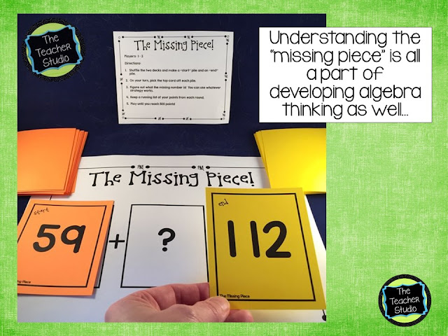 Teaching algebraic thinking and other problem solving skills can help students build math understanding like the concept of equal and other basic algebra thinking concepts. Perfect for grade 3 math, grade 4 math, math workshop, math centers, math intervention