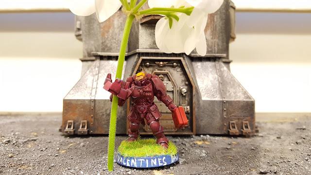 space marine reiver primaris valentine's day pink flower holder